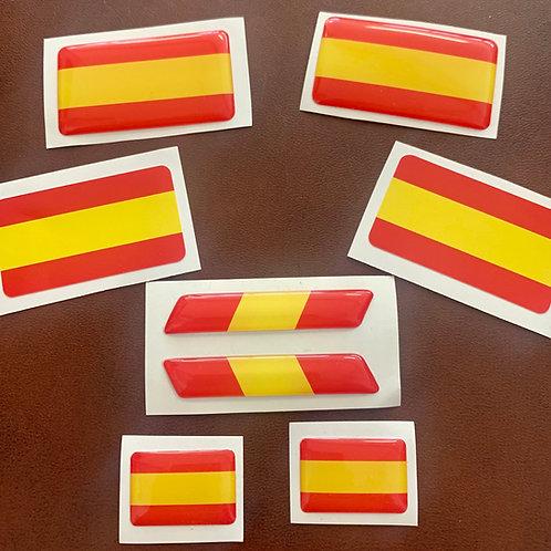 Adhesivos con relieve bandera española