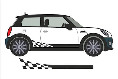 Adhesivos franjas laterales racing  para coche