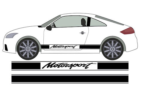 Adhesivos Franja lateral coche Motorsport