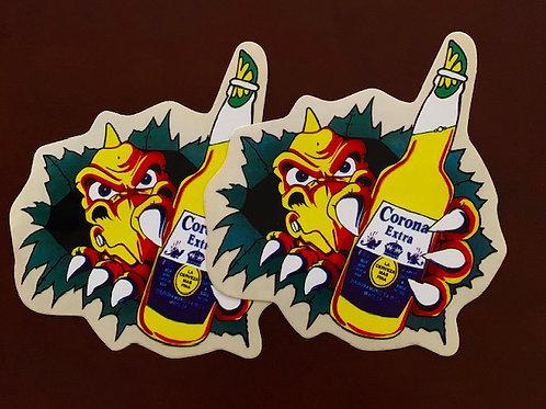 adhesivos moto corona  decoración