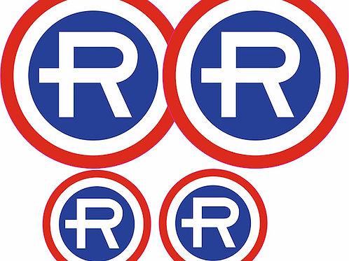 pegatinas vintage R Repsol