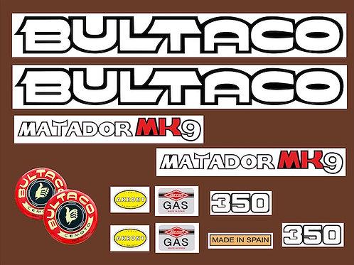 vinilo vintage Bultaco Matador MK9 kit pegatinas moto