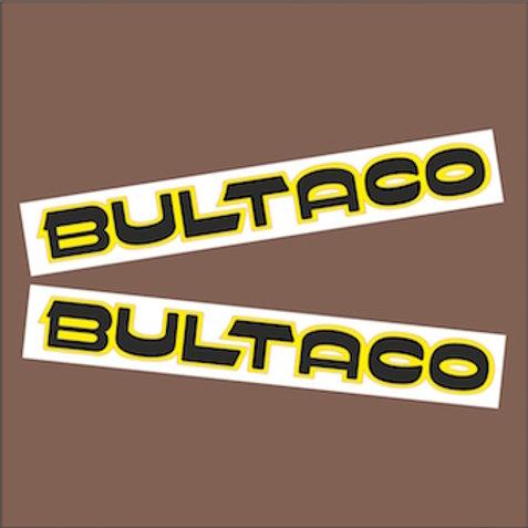 Pegatinas Bultaco ribete amarillo