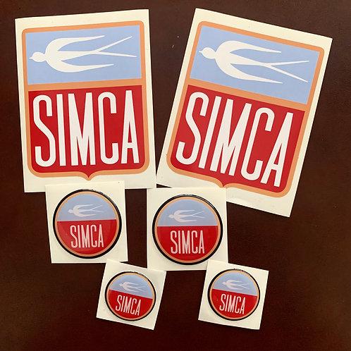 Pegatinas logo Simca