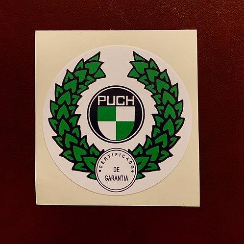 Adhesivo depósito moto Puch laurel
