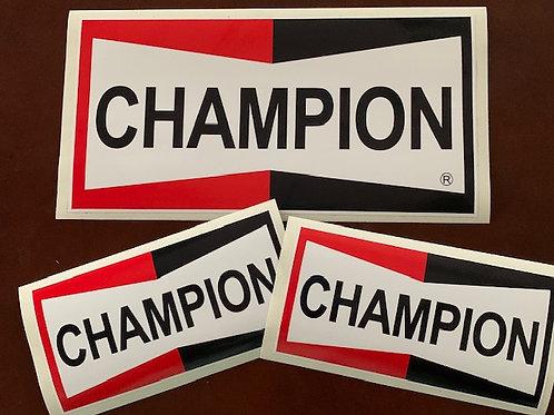 adhesivos logo Champion