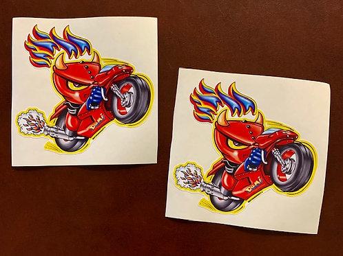 Demonio en llamas moto