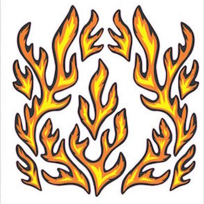 pegatina llamas decorativo