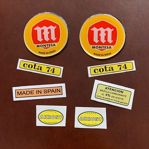adhesivos moto montesa cota74