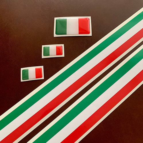 adhesivos bandera italiana
