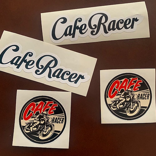 adhesivos vintage moto Cafe Racer