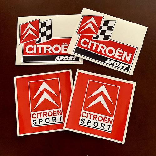 adhesivos clásicos logo citroën sport