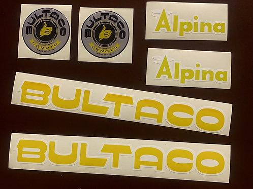 adhesivos clásicos Bultaco alpina