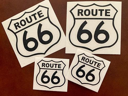 Route 66 adhesivos vinilo recortado