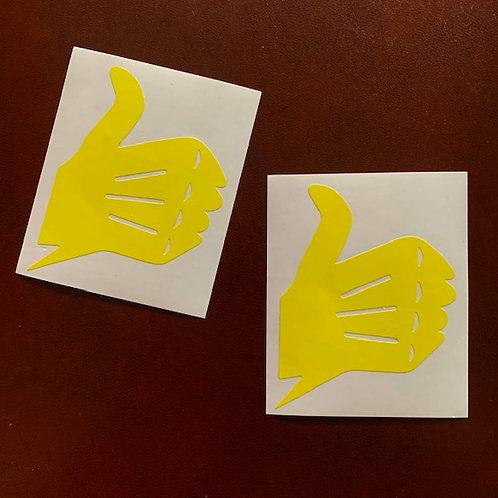 pegatinas clásicas dedo bultaco