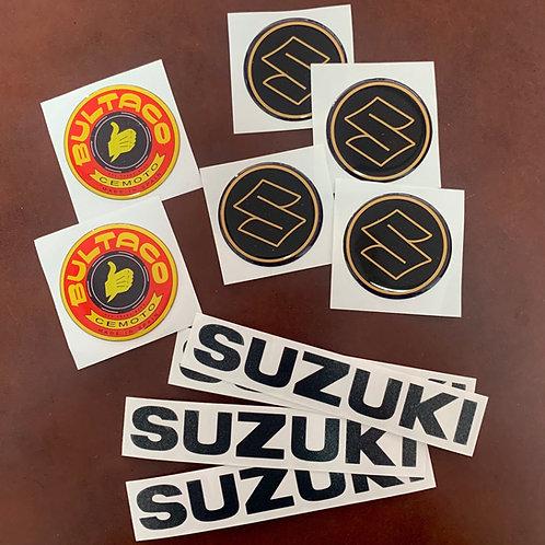 Kit adhesivos moto suzuki y bultaco