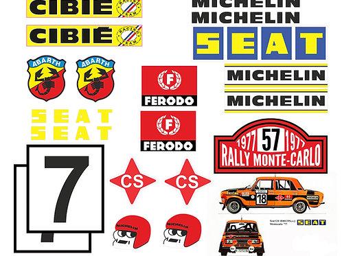 SEAT 124-1430 Montecarlo adhesivos vintage rally