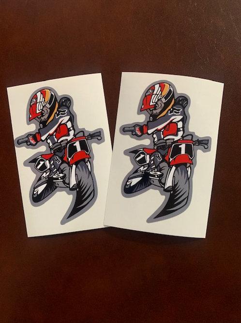 pegatinas motocross decoración