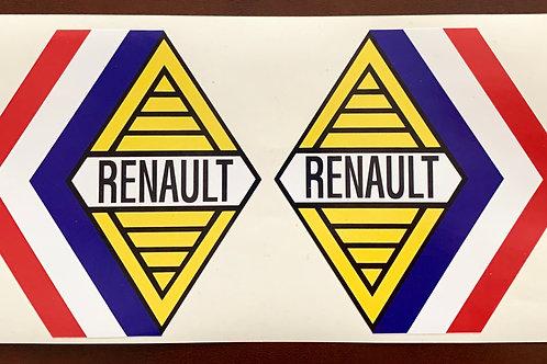 adhesivo vintage anagrama Renault