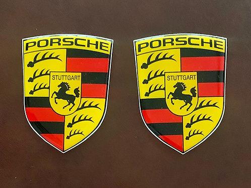 pegatina vintage Porsche con resina