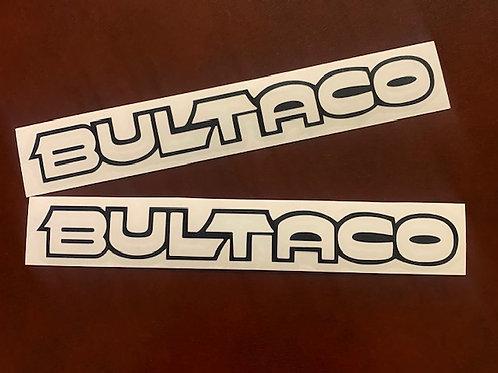 adhesivos letras blancas Bultaco