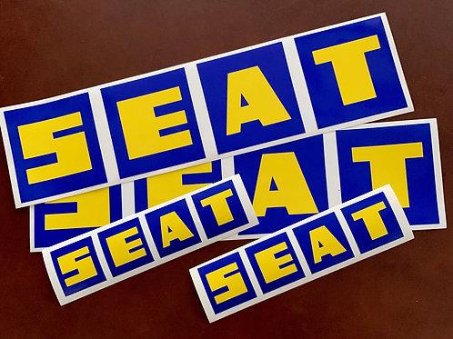 Adhesivos logo Seat vintage