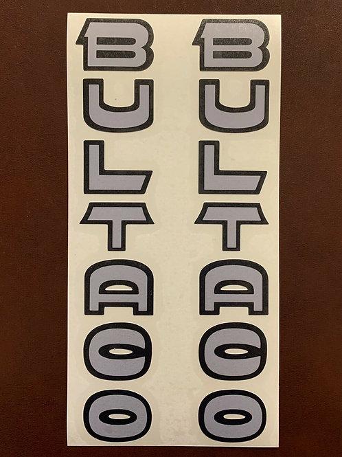 adhesivo letras bultaco horquilla
