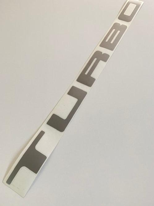 adhesivo letras turbo decoración coche
