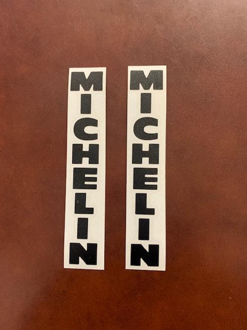 vinilo negro Michelin horquilla moto
