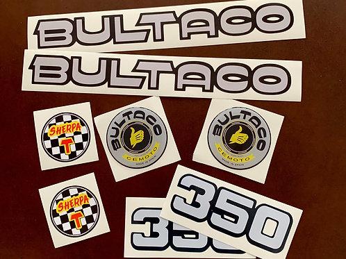 adhesivos moto Bultaco Sherpa 350