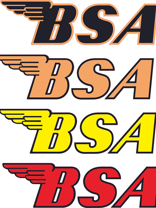etiquetas BSA moto