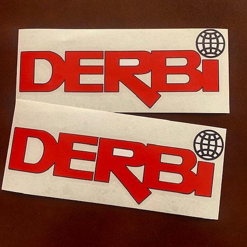 adhesivos letras derbi rojas