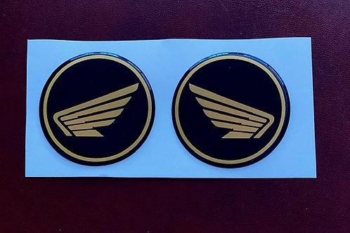 pegatinas vintage logo Honda en relieve