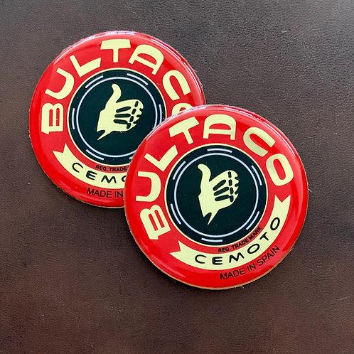adhesivos en relieve Bultaco para depósito