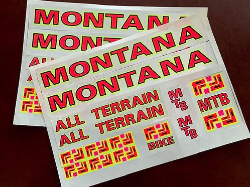adhesivos clásicos bicicleta Montana All Terrain