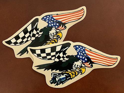 adhesivo decoración águila con pistón
