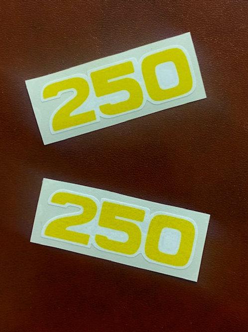 vinilos frontera bultaco número 250 amarillo