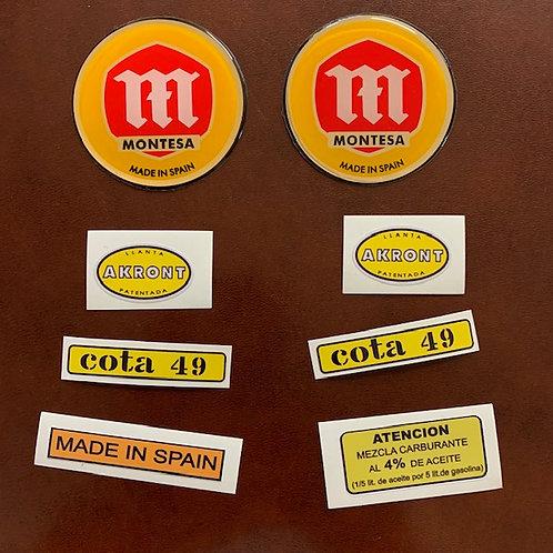 kit adhesivos Montesa cota49