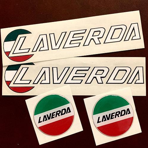 adhesivos Laverda moto clásica