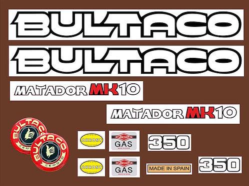 Kit moto Bultaco matador mk10