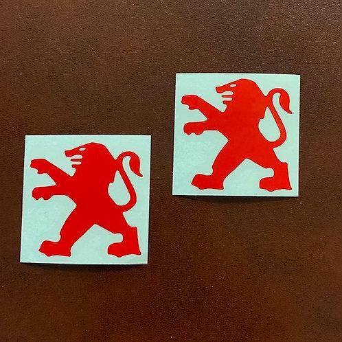 anagrama leon peugeot rojo