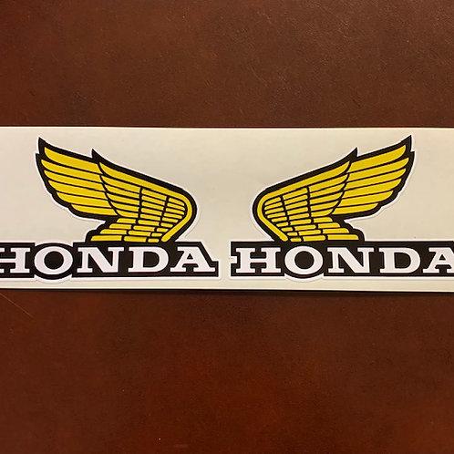 adhesivo alas moto Honda amarillo