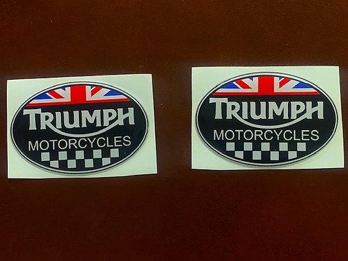 pegatina con resina logo Triumph