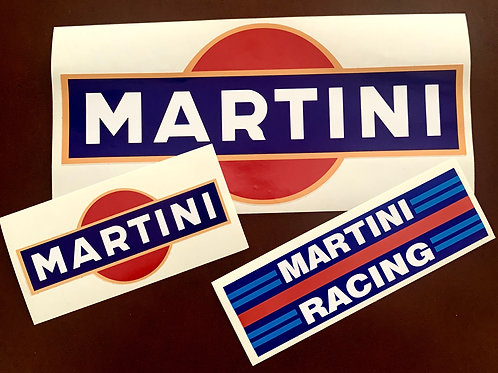 Conjunto 3 adhesivos Martini Racing