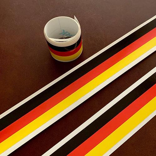 pegatina tira bandera alemana