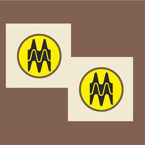 pegatina logo vintage M Montesa Repsol