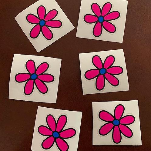 adhesivos decorativos margaritas rosa
