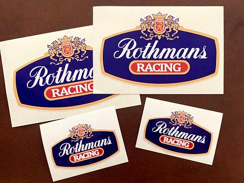 4 adhesivos Rothmans Racing
