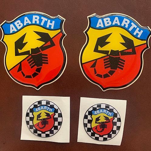 adhesivos con resina modelo Abarth vintage