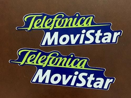 pegatinas logo Telefonica Movistar